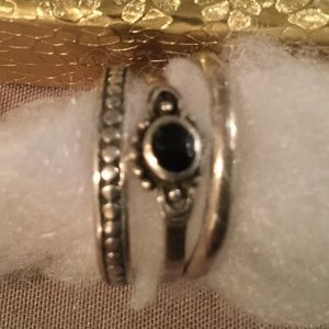 Silpada stack rings (set of 3) size 8